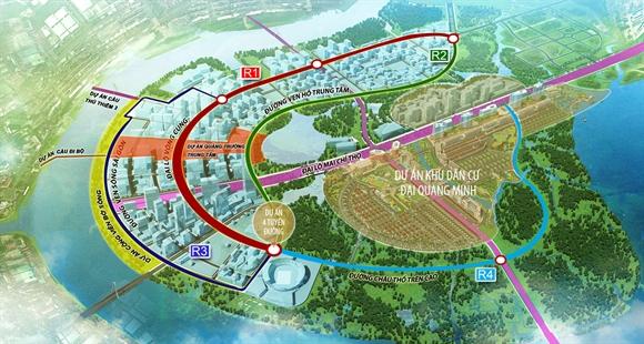 Khu đô thị Sala nằm trong vùng lõi bán đảo Thủ Thiêm