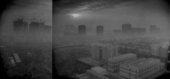 Sương khói bao trùm Hình Đài (Xingtai), phía nam tỉnh Hà Bắc, Trung Quốc.