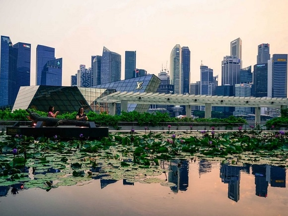 Mặc dù là thành phố với vô vàn tòa nhà cao tầng, nhưng vẫn dễ dàng tìm được một nơi nghỉ ngơi yên bình.