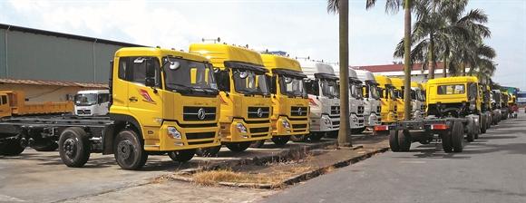 Thị trường ôtô tải đang khởi sắc - Ảnh: cafef.vn