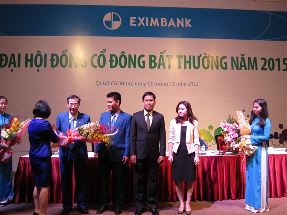 Co dong Eximbank thong qua phuong an nhan su HDQT, BKS nhiem ky moi