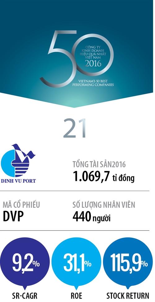 Top 50 2017: Cong ty Co phan Dau tu va Phat trien Cang Dinh Vu