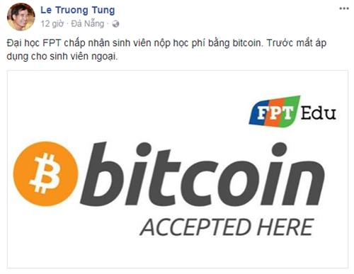 Dai hoc FPT bat ngo chap nhan thu hoc phi bang Bitcoin
