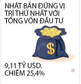 Nam 2017: Nhat, Han rot von FDI nhieu nhat