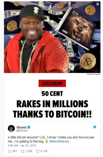 50 Cent kiem duoc 8 trieu USD nho ban album bang bitcoin?