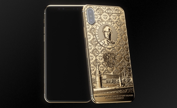 Can canh iPhone X phien ban mung Putin tai dac cu Tong thong Nga