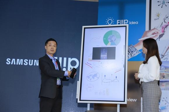 Samsung ra mat bang flipchart dien tu danh cho doanh nghiep