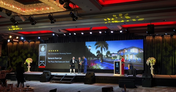 Tien Phuoc dat giai thuong Asia Pacific Property Awards 2018