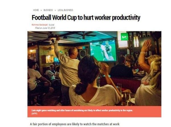 World Cup 2018: Noi lo nang suat lao dong giam