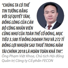 Top 50 2018: Cong ty co phan FECON