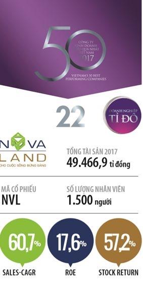 Top 50 2018: Cong ty Co phan Tap doan dau tu dia oc No Va