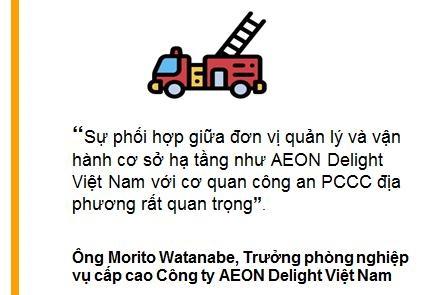 AEON Delight Viet Nam dien tap phong chay chua chay tai Binh Duong