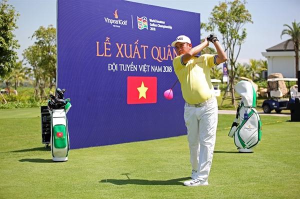 Doi tuyen Golf Viet Nam quyet tam bao ve chuc vo dich tai Giai WAGC 2018