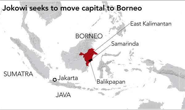 Tổng thống Indonesia đang tìm cách di dời thủ đô đến Borneo