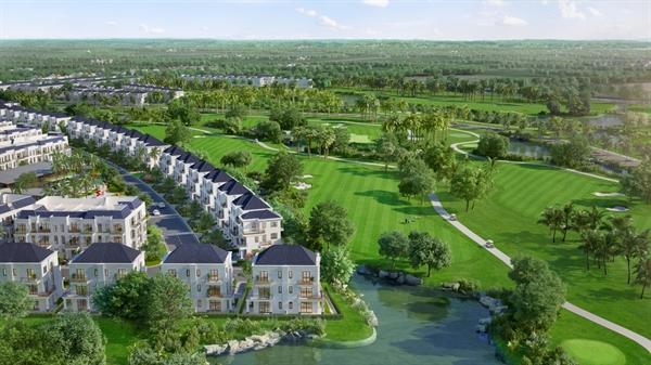 Hình ảnh hé lộ dự án West Lakes Golf & Villas do Trần Anh Group phát triển tại xã Tân Mỹ, huyện Đức Hòa, Long An