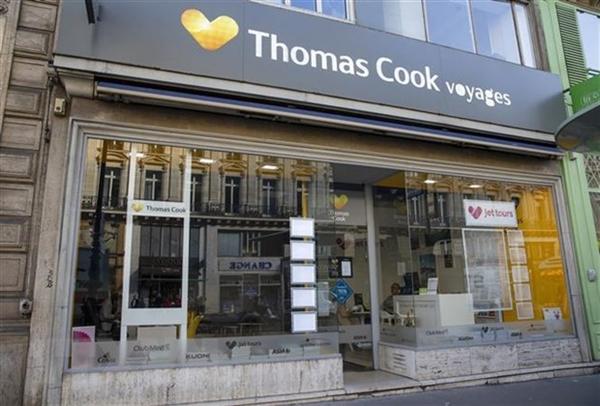 Chi nhánh của tập đoàn lữ hành Thomas Cook tại Paris, Pháp. (Ảnh: AFP/TTXVN)