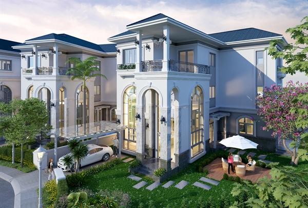 101 căn biệt thự của Sol Villlas là sự kết hợp của phong cách cổ điển uy nghi bề thế và nét khỏe khoắn của phong cách hiện đại.