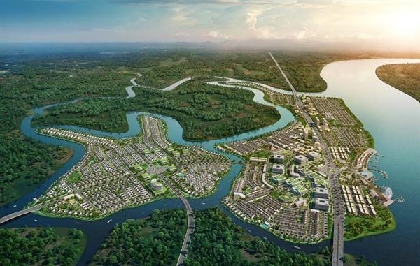 Đô thị sinh thái thông minh Aqua City gây ấn tượng với không gian thiên nhiên xanh mát khi được bao bọc bởi hệ thống các sông lớn