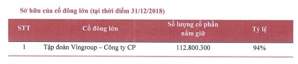 Nguồn: Báo cáo thường niên 2018 của SDI.