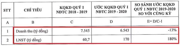 Kết quả kinh doanh ước tính của Tập đoàn Hoa Sen. Nguồn: HSG.
