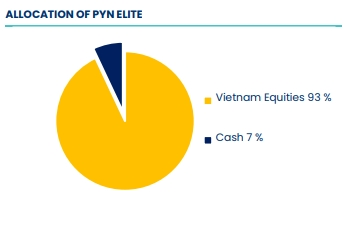 Tỷ lệ phân bổ tiền mặt và cổ phiếu của quỹ PYN