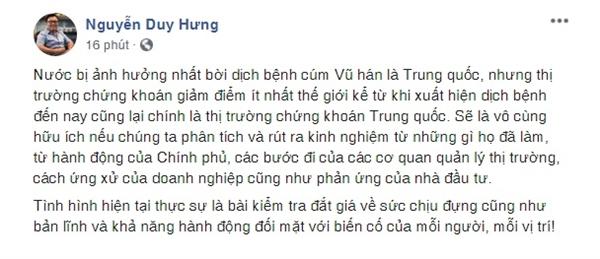 Nguồn: Facebook ông Nguyễn Duy Hưng.