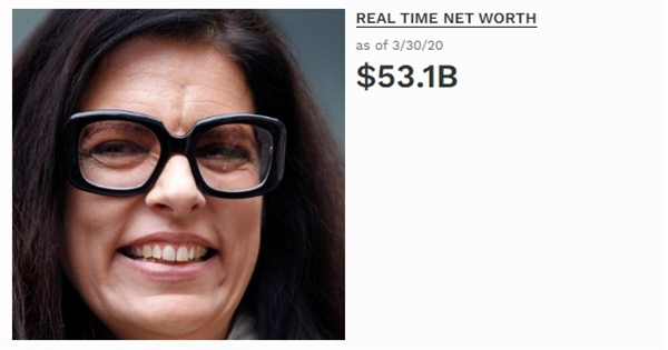 Người phụ nữ giàu có nhất thế giới. Ảnh: Forbes.
