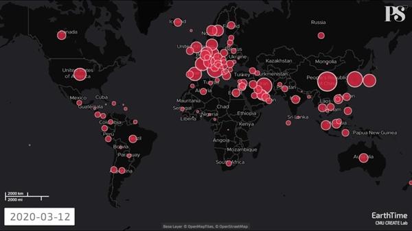 Đại dịch COVID-19 đã lây lan trên toàn cầu. Nguồn ảnh: PS