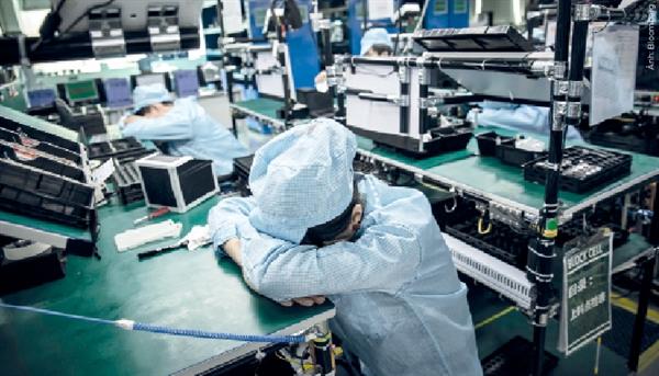 Công nhân tại nhà máy Foxconn Trung Quốc