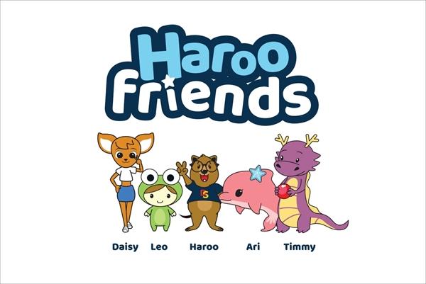 Haroo friends với những nhân vật mang nhiều tính cách đặc trưng đang thu hút được nhiều sự quan tâm của các em nhỏ.