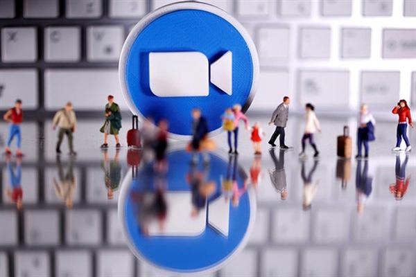Biểu tượng ứng dụng họp trực tuyến Zoom. (Ảnh: Reuters)