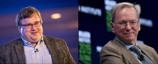 Tỷ phú Reid Hoffman và cựu CEO Google Eric Schmidt là hai trong số các ông trùm Thung lũng Silicon ủng hộ ứng viên đảng Dân Chủ. Ảnh: Getty Images.