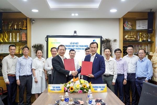 Tập đoàn Hưng Thịnh ký kết hợp tác toàn diện với Đại học Bách Khoa TP.HCM ngày 26.2.2020.