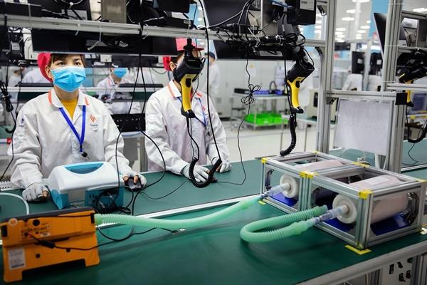 Dây chuyền sản xuất máy thở của Vingroup