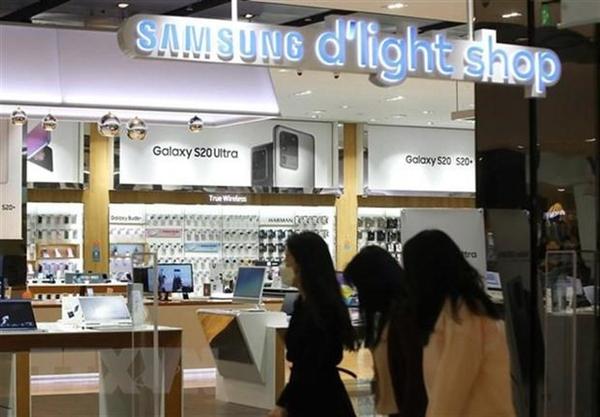 Một gian hàng của Samsung tại thủ đô Seoul, Hàn Quốc. (Ảnh: Yonhap/TTXVN).