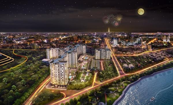 Mật độ xây dựng Picity High Park chỉ chiếm 23% tổng diện tích, 6 tòa tháp cao 15-18 tầng.