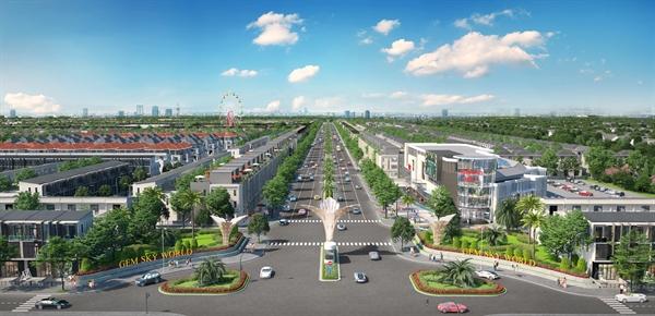 Phối cảnh dự án Khu đô thị Thương mại Giải trí Gem Sky World.