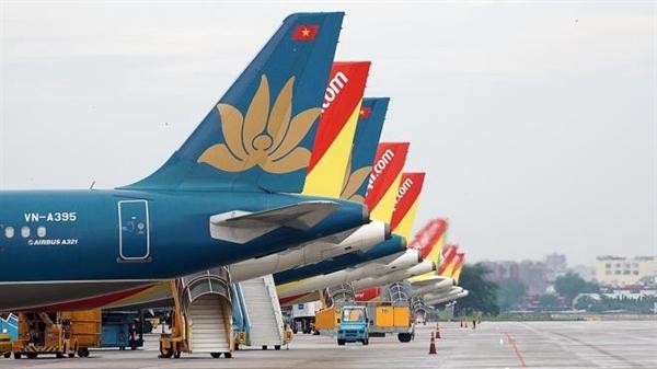 Các hãng hàng không đang chờ lệnh khai thác những chuyến bay quốc tế thường lệ.