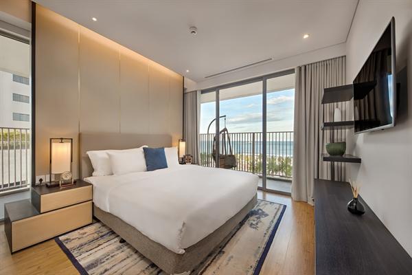 Phòng ngủ view biển dự án Wyndham Soleil Danang