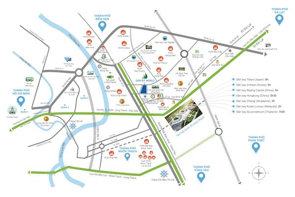 Nhà phố thương mại Gem Sky World tọa lạc tại vị trí vàng kết nối giao thông linh hoạt.