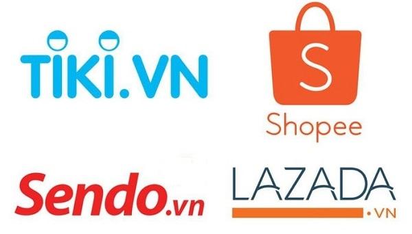Các sàn thương mại điện tử phổ biến tại Việt Nam. Ảnh: Sosanh.