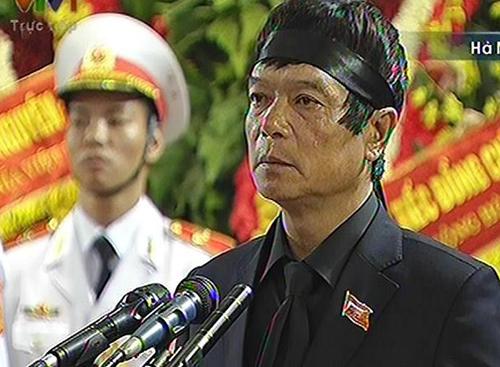 Lời cảm tạ của ông Võ Điện Biên, con trai cả Đại tướng, tại lễ truy điệu