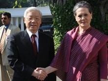 Tổng Bí thư Nguyễn Phú Trọng hội kiến với Chủ tịch Đảng Quốc đại Ấn Độ