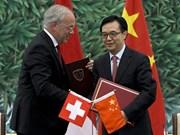 Hạ viện Thụy Sĩ vừa thông qua FTA với Trung Quốc