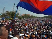 Đảng đối lập Campuchia lại biểu tình lớn, đòi bầu cử sớm