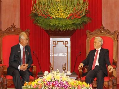 Thống nhất nâng tầm quan hệ Việt Nam - Malaysia lên thành đối tác chiến lược