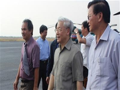 Tổng bí thư thăm dinh cơ bầu Đức tại Lào