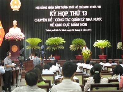 Kỳ họp 13 HĐND TPHCM khóa VIII: Chi gần 7.600 tỉ đồng cho giáo dục
