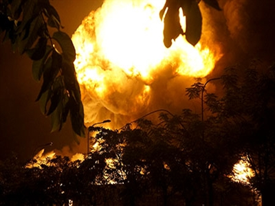 Cháy rất lớn ở KCN Việt Nam-Singapore tỉnh Bình Dương