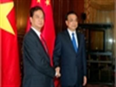 Thủ tướng Nguyễn Tấn Dũng gặp Thủ tướng Lý Khắc Cường